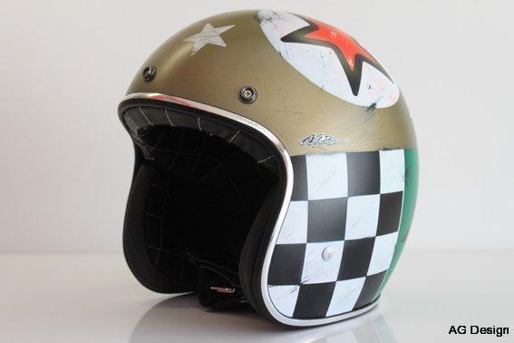 Casco Caf 232 Racer Ag Design Airbrush