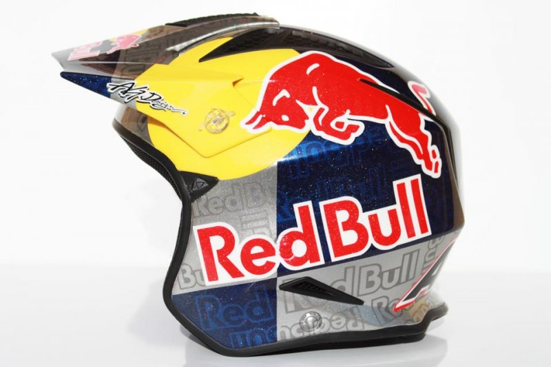 Aerografia Casco Trial Red Bull Ag Design Airbrush